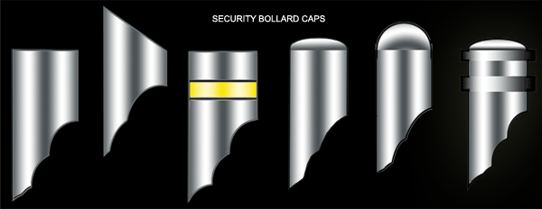 security bollard cap illustrations by larrry dunlap graphic design