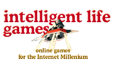 intelligent life games logo by larry dunlap graphic design